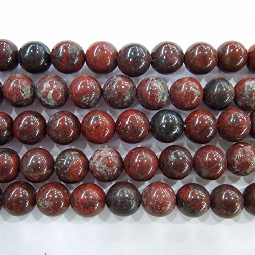 TheTasteJewelry 4mm Round Red Flower Jasper Beads 15 inches 38cm Jewelry Making Necklace Bracelet Healing