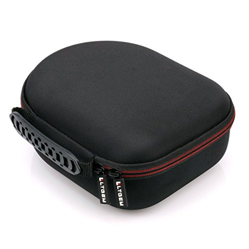 LTGEM Headphone Case Travel Bag Carrying Storage for Sennheiser HD 598,HD558,HD202 II,HD201,HD419,HD229,HD202,HD518,HD555 Headphone-Black