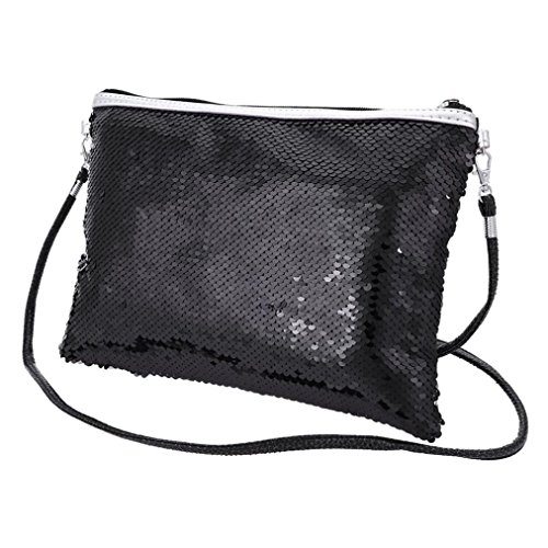 Color Shaped PU 02 Envelope Bag Purse Casual Solid Waterproof Black Body Outdoor Fashion Cross Day EUzeo Sequins Messenger Ladies Bag Handbag Bag Pocket Pack Shoulder Women's Bags Multi Clutch Tote HwUCq50