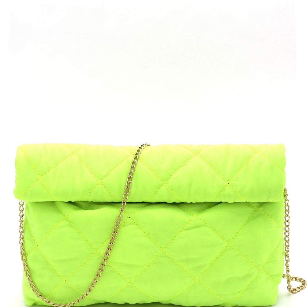 Trendy Neon Color Quilted...