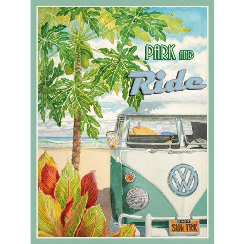 Eletina Toy Booki Light Park and Ride Metal Sign Surfing and Tropical Decor Wall Accent Surfing Sign