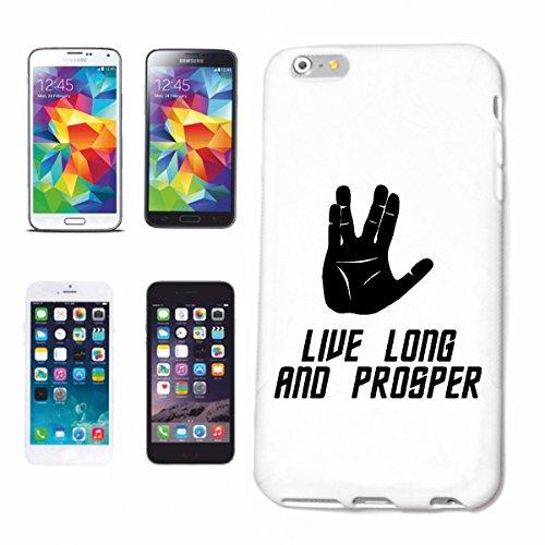 """Handyhülle iPhone 6S """"Live Long And Prosper Star Trek Spock Vulkan Trek"""" Hardcase Schutzhülle Handycover Smart Cover für Apple iPhone … in Weiß … Schlank und schön, das ist unser HardCase. Das Case wi"""