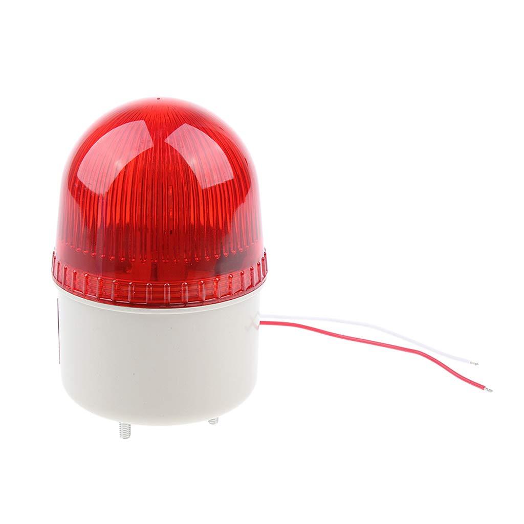 FLAMEER 1 Stü ck Warnblinkleuchte LED Rundumleuchte Blitzleuchte Signallampe fü r Sicherheit 220V Wasserdicht -Rot