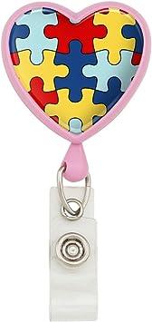 AUTISM AWARENESS PUZZLE LANYARD I.D HOLDER OR KEYS heart autism