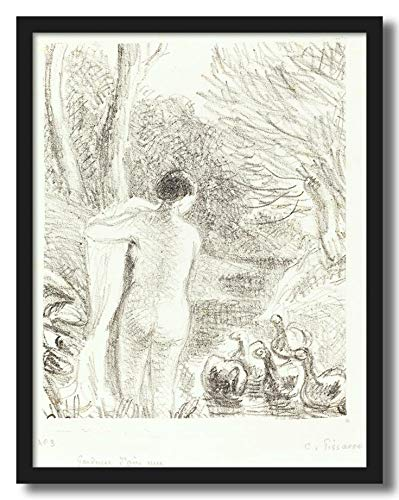 Artcentral Nude Goose Girl 1897 Painting By Camille Pissarro