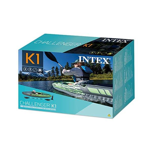51lDlwkdv8L Intex Schlauchboot Aufblasbares Kajak Boot Challenger K1 Phthalates Free Inkl. 84 Paddel und Luftpumpe, 274 X 76 X 33 cm…