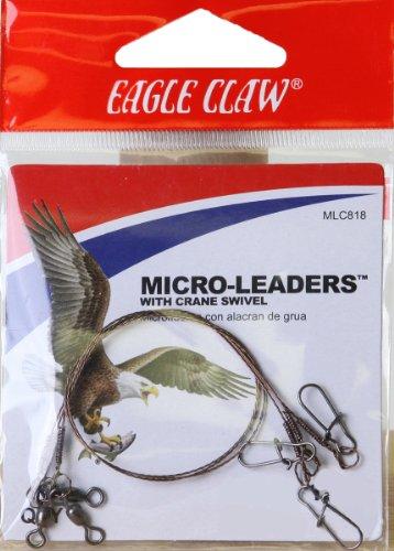 Eagle Claw 8lb Micro Leader With Crane Swivel, 12