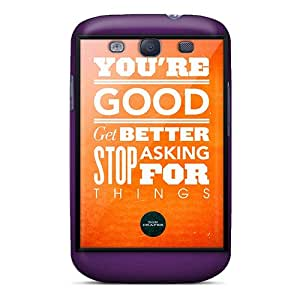 Premium Tpu Life Quotes Cover Skin For Galaxy S3