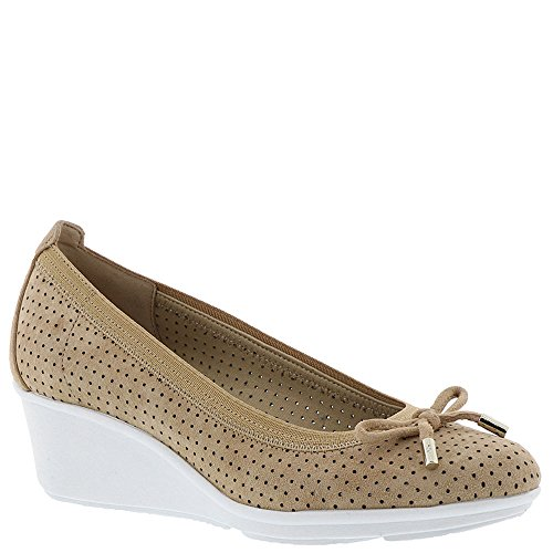 - Anne Klein Carissa Perforated Bow Tie Wedge Pumps, Light Natural/Light Natural, 9.5 US