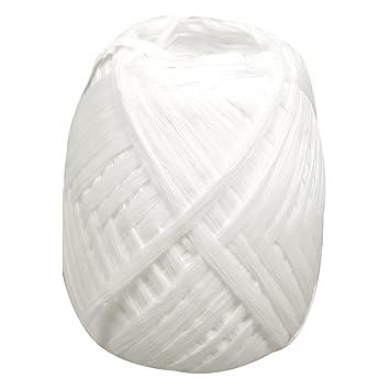 Rayher Hobby 52002102 Premium Papierbast Weiß Knäuel 75 M Aus 100