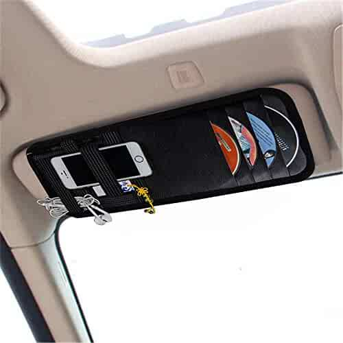 ce1aad02512 YIER Car Sun Visor Organizer Card Storage and Electronic Accessory Holder
