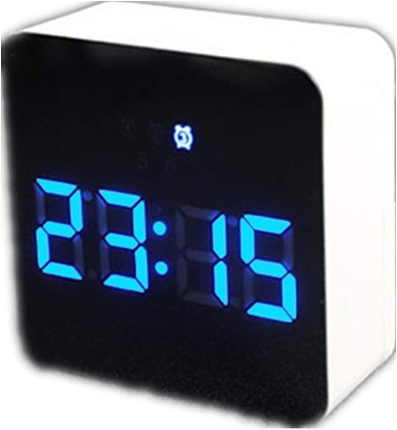 Despertador Analógico Mural Agencia De Viajes De Cabecera Digital De Alarma De Reloj De Repetición Regulador del LED For El Temporizador De Sueño De La Decoración Dormitorio Moderno