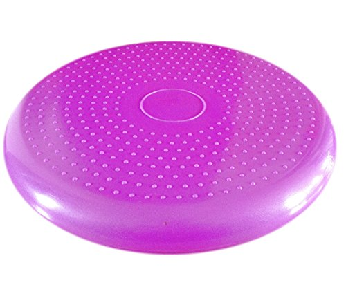 Air Stability Wobble Cushion, Purple, 35cm/14in Diameter, Balance Disc, Pump Included