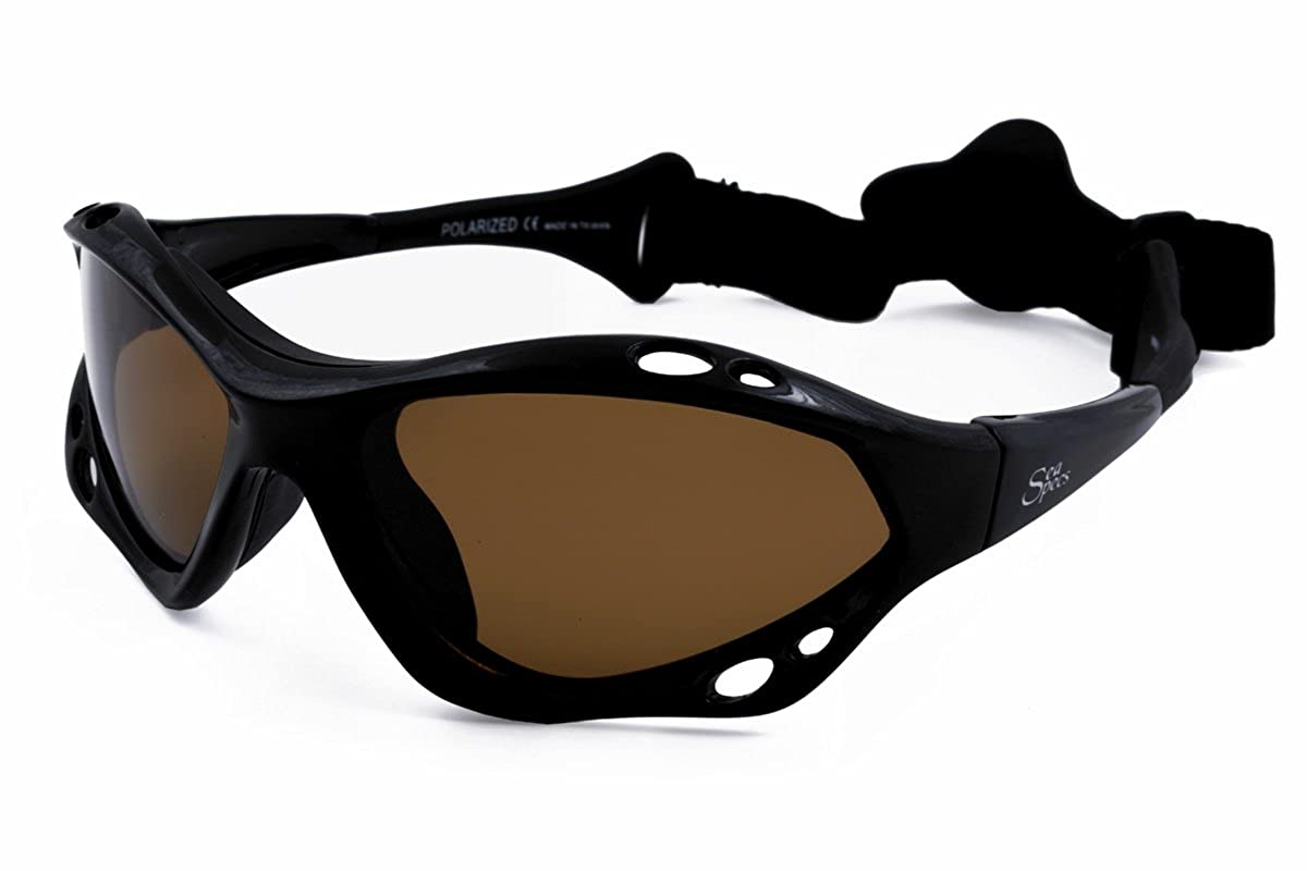 ac83e20bd25 Amazon.com  SeaSpecs Black Jet Specs Extreme Sea Specs Sunglasses  Sports    Outdoors