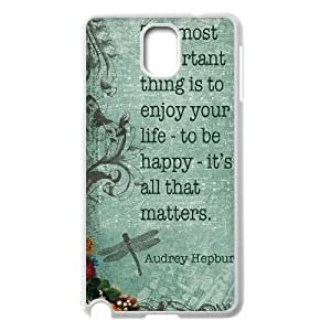 Audrey Hepburn Quotes DIY Cover Case for Samsung Galaxy Note 3 N9000,personalized phone case ygtg-781231