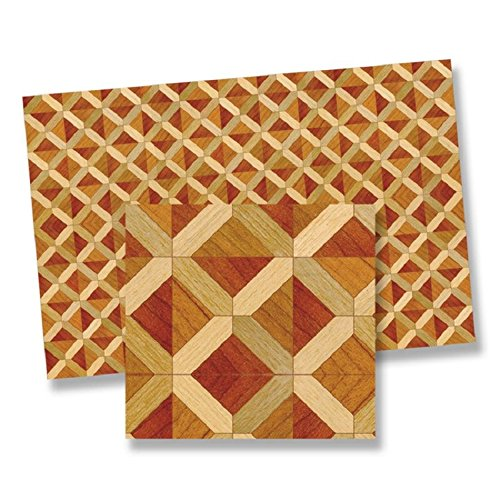 World Model Miniatures Dollhouse Miniature Faux Wood Parquet Flooring