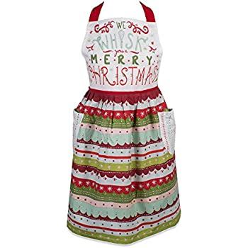 DII 5035 Holiday Kitchen Apron, One Size, Whisk You A Merry Christmas