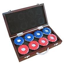 Hathaway Shuffleboard Pucks with Case, Set of 8