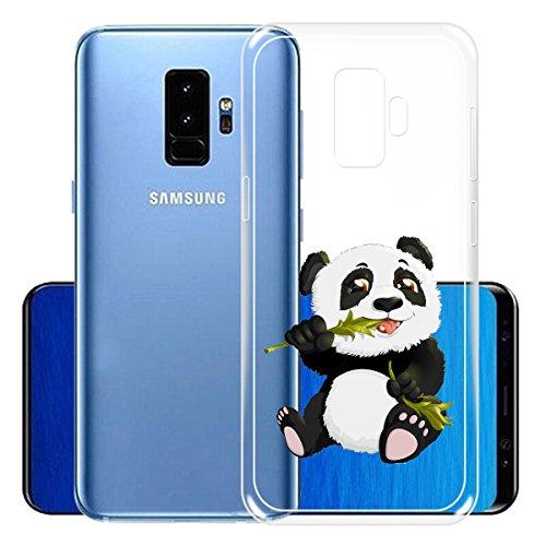 Funda para Samsung Galaxy S9 Plus , IJIA Transparente Adorable Gatito TPU Silicona Suave Cover Tapa Caso Parachoques Carcasa Cubierta para Samsung Galaxy S9 Plus (6.2) (WM104) WM122