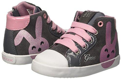 Amazon.com | Geox Baby Girls B Kiwi C Trainers, Grey (DK Grey/Pink C0952), Child 7.5 UK | Shoes