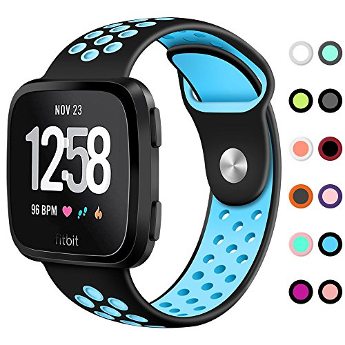 KIMILAR Compatible Versa Bands, Sport Silicone Breathable Replacement Strap Bands with Ventilation Holes Compatible Versa Smart Watch