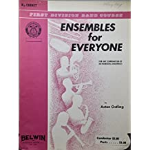 1968 - First Division Band Course : Ensembles for Everyone - B Cornet Music Book