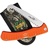 Outdoor Edge FW-45 Flip N' Zip Saw 4-1/2-Inch Triple Ground Folding Saw with Rubberized Aluminium Handle Complete with Pocket Clip