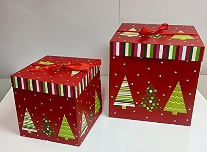dalbags – Lote de unidades 2 cajas regalo Navidad completo de cordones 2 Color Con Fondo