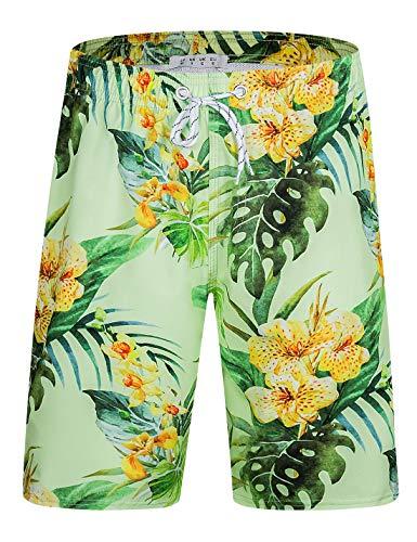 ELETOP Men's Swim Trunks Quick Dry Board Shorts Beach Holiday Swimwear Print Bathing Suit L2
