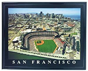 Framed San Francisco Giants Aerial Stadium Print Wall Art F727A