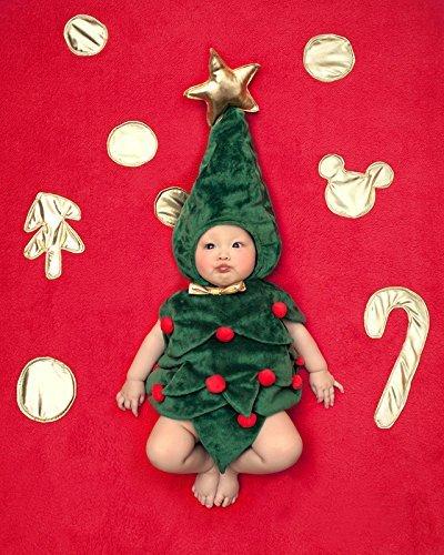 코스프레 의상 크리스마스 트리 인형 롬퍼스(rompers) 반소매 아기 인형 0-6개월 Sunny Corner