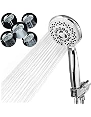"""Handheld Shower Head with Hose - 5 Spray Settings High Pressure Shower Head with 80"""" Extra Long Stainless Hose Detachable Water Saving Showerheads with Adjustable Bracket Chrome Plated ABS Massage Spa"""
