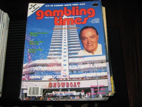 Gambling Times Magazine (BOB HOPE , Atlantic City Showboat , Beating The Spreads , Cruiuse Ship Casino, August 1987)