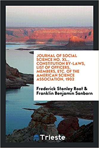 Journal of Social Science No  XL , Constitution By-Laws