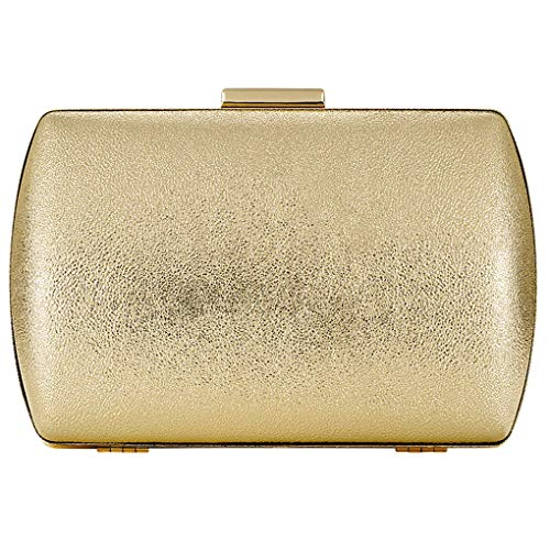 Womens Evening Clutch Bridal Prom Handbag shoulder bag Wedding Purse Party Bag (GOLD Q)