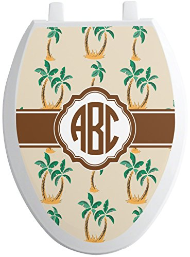 Palm Trees Toilet Seat Decal - Elongated (Personalized) (Tree Toilet)