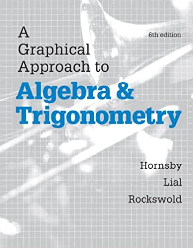A Graphical Approach to Algebra and Trigonometry (6th Edition): John ...