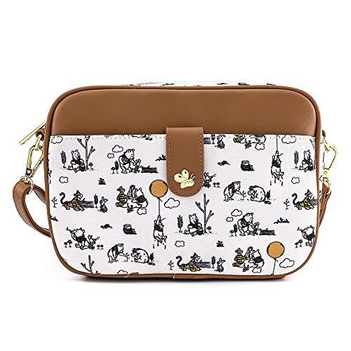 Loungefly Disney Winnie The Pooh Line Drawing Crossbody Bag Purse