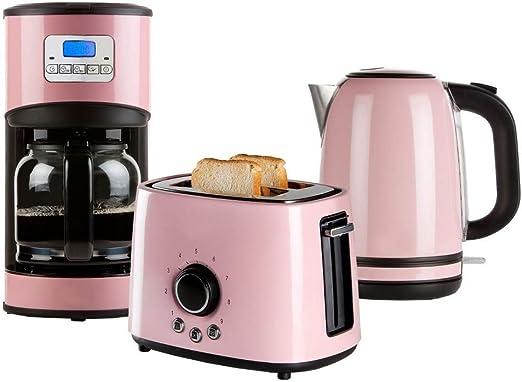 Retro Juego de desayuno en color pastel Cafetera, Tostadora y ...