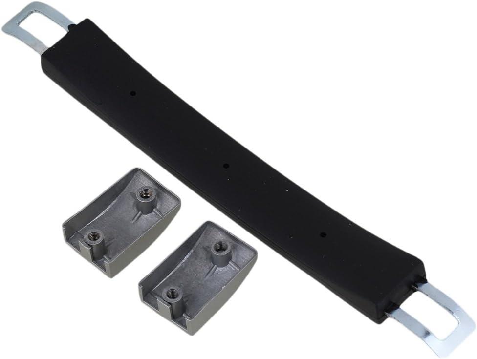 RDEXP Nero Flessibile di riserva da Maniglia di Ricambio per Valigia Bagaglio di Nero e Argento 4.72 x 1.18 inch