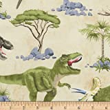 Timeless Treasures Dinosaur Scenic Dinosaur Fabric By The Yard