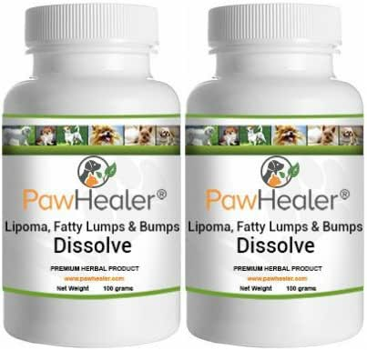 Dissolve Herbal Formula - 2 Pack - Fatty Lumps & Bumps Remedy for Dogs & Pets - 100 Grams Powder/ea