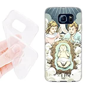 Head Case Designs Angels Christmas Nativity Soft Gel Back Case Cover for Samsung Galaxy S6 G920, Galaxy S6 Duos