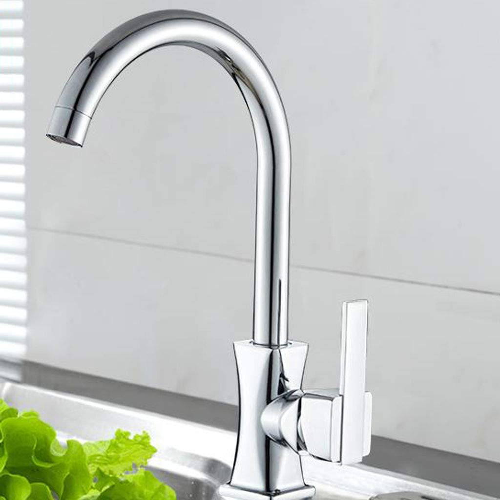 K 304stainless Steel Kitchen Sink Faucet, Touch Faucet Sink Mixer with Drain Assembly High arc Kitchen Bathroom Bathroom -H