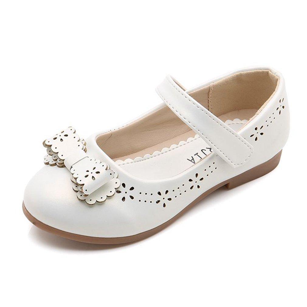 CYBLING Toddler Little Girls Dress Ballet Flats Cutout Bow Mary Jane Shoes (Toddler/Little Kid)