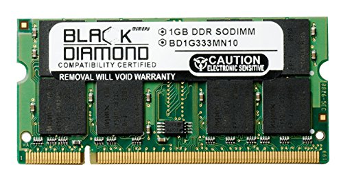 1GB RAM Memory for Apple PowerBook G4 1GHz (15-inch Display PC2700 DDR) Black Diamond Memory Module DDR SO-DIMM 200pin PC2700 333MHz Upgrade by Black Diamond