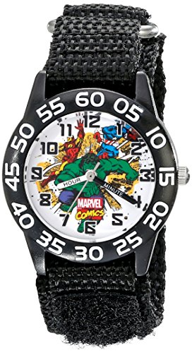 Marvel Kids' W001724 Hulk Analog Display Analog Quartz Black Watch