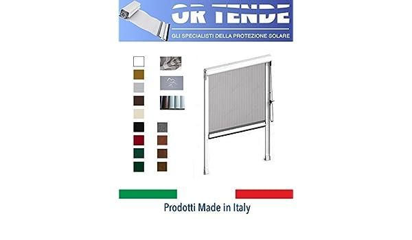 OR Tende – Mosquitera vertical de aluminio, con cadena y enganches cortavientos para ventanas, medidas personalizables: Amazon.es: Hogar