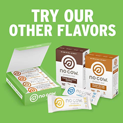No Cow Protein Bars, Sweet Tooth Combo Pack, 20g Plus Plant Based Vegan Protein, Keto Friendly, Low Sugar, Low Carb, Low Calorie, Gluten Free, Naturally Sweetened, Dairy Free, Non GMO, Kosher, 12 Pack