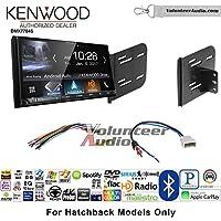 Volunteer Audio Kenwood DMX7704S Double Din Radio Install Kit with Apple CarPlay Android Auto Bluetooth Fits 2012-2013 Nissan Versa